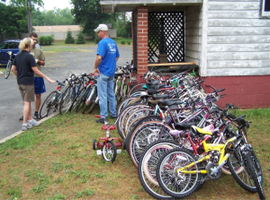 Bikes ready for the P4P truck in Colts Neck