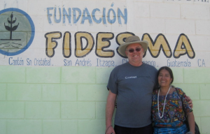Dave Schweidenback and Margarita Caté in front of the FIDESMA building