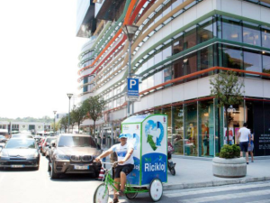 I Recycle rickshaw in the streets of Tirana, Albania