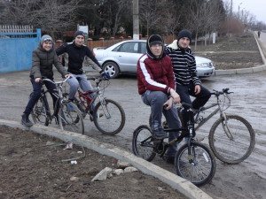 Moldovan teens out for a ride